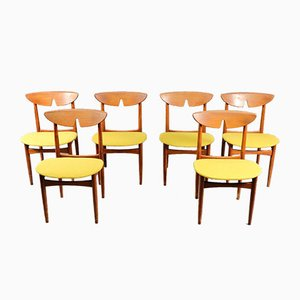 Mid-Century Danish Teak Dining Chairs 1960s, Set of 6
