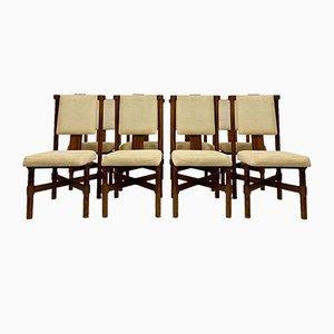 Palisander Esszimmerstühle, 1970er Jahre, 8er Set