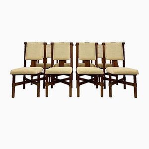 Rosewood Dining Chairs, 1970s, Set of 8