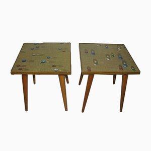 Tables de Chevet Vintage de Opal Möbel, 1970s, Germany, Set de 2