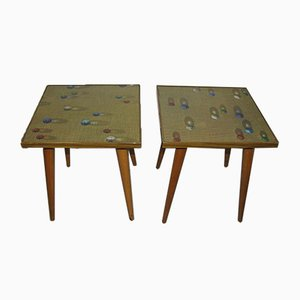 Vintage Planters / Side Table from Opal Möbel, 1970s, Germany, Set of 2