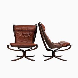 Mid-Century Falcon Chairs von Sigurd Ressell für Vatne Möbler, Norwegen, 1970er Jahre