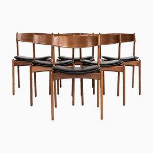 Mid-Century Danish Dining Chairs in Teak by Erik Buch for Oddense Maskinsnedkeri & O.D. Møbler, 1960s, Set of 6