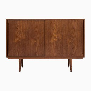Mid-Century Smaller Sideboard in Teak with 2 Sliding Doors, Denmark, 1960s