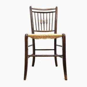 Chaise d'appoint victorienne antique en bois courbé