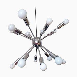 Großer Mid-Century Sputnik & Atomic Kronleuchter, Italien, 1970er