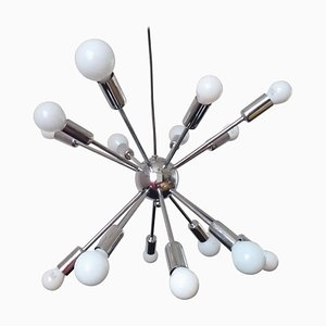 Large Mid-Century Sputnik & Atomic Chandelier, Italy, 1970s