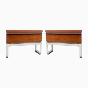Mid-Century Bedside Table Drawer Cabinets, Set of 2