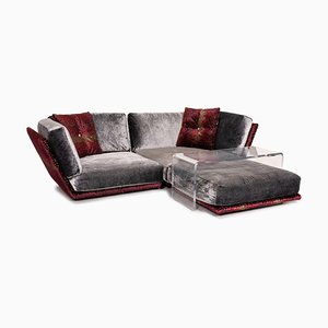 Napali Velvet Corner Sofa & Plexiglass Table from Bretz