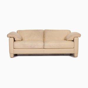 Cream Leather DS 17 2-Seat Sofa from de Sede