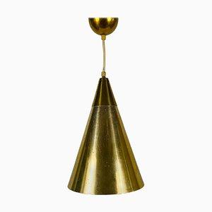 Lámpara colgante de latón pulido estilo Paavo Tynell, años 50