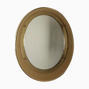 Specchio in vetro specchiato e affumicato, Italia, anni '60