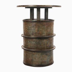 Table haute Mange Debout fabriquée à partir d'une boîte en fer