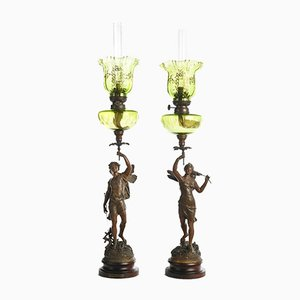 Oil Lamps Caress Zephyr by Doriot, Set of 2