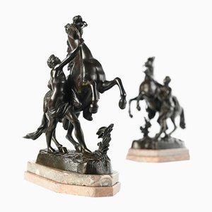 Bronze die Pferde von Marly von Coustou, 2er Set