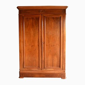Large Antique Walnut Louis Philippe Cabinet