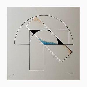 Composición 1 de Gottfried Honegger (azul, negro y naranja), 2015 2020