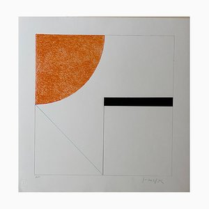 Gottfried Honegger Composition 2 (Orange, Black and Light Blue), 2015 2020