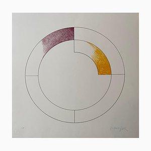 Composición 3 de Gottfried Honegger (morado y amarillo), 2015 2020