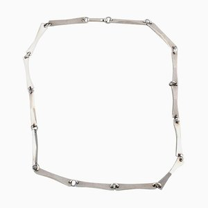 Gertrude Engel for Anton Michelsen, Modernist Necklace in Sterling Silver, 1961