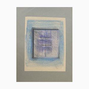 Claudio Palmieri - Transparents - Dessin Pastel Original - Années 1989