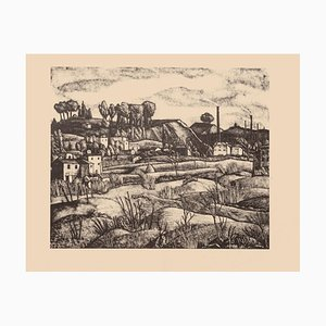 Diego Pettinelli - Landscape - Original Lithograph on Paper - 1936