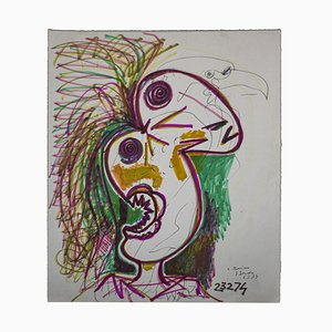 Gianpaolo Berto - Bird-of-Paradise - Original Mixed-Media Drawing - 1974