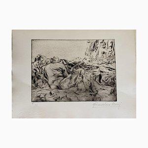 Anselmo Bucci - Militants - Grabado original - 1917