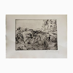 Anselmo Bucci - Militants - Original Etching - 1917