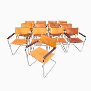 B34 Chairs by Marcel Breuer for Thonet, Set of 13