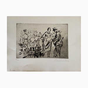 Anselmo Bucci - Militant - Gravure originale - 1917