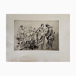 Gravure à l'Eau-Forte Anselmo Bucci - Militant - 1917