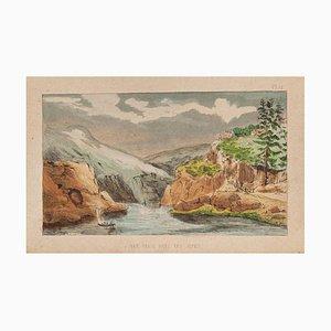 E. Türen, Landschaft, 1860, Lithographie