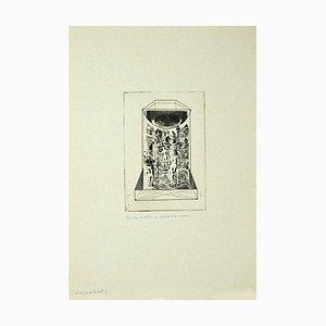 Danilo Bergamo, Komposition, Radierung auf Karton, 1970er Jahre