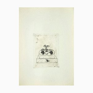 Danilo Bergamo, Rosen, Radierung auf Karton, 1970er Jahre