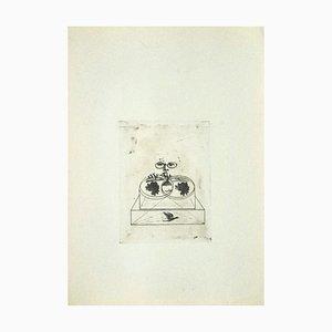 Danilo Bergamo, Roses, Etching on Cardboard, 1970s