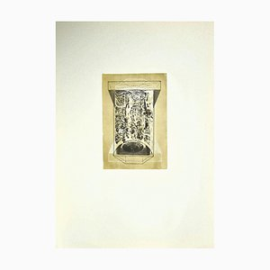 Danilo Bergamo, Composition, Etching on Cardboard, 1970s