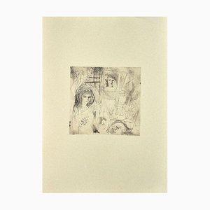 Scultura Danilo Bergamo, Figura, Etching on Cardboard, anni '80