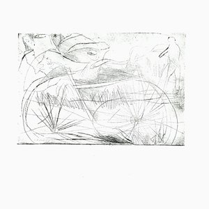 Danilo Bergamo, Bicycle, Etching on Cardboard, 1980s