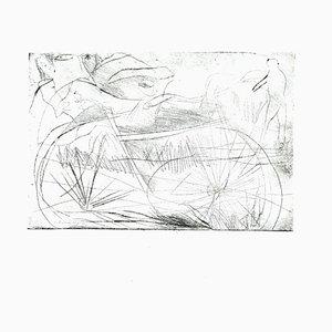 Danilo Bergamo, Fahrrad, Radierung auf Karton, 1980er Jahre