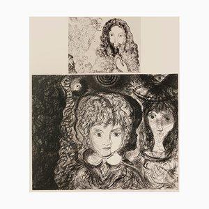 Gian Paolo Berto, Composition de Figures, Gravure à l'Eau Forte, 1974