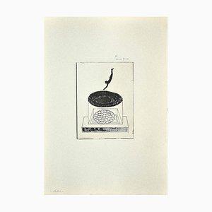 Danilo Bergamo, The Diver, Radierung auf Karton, 1970er