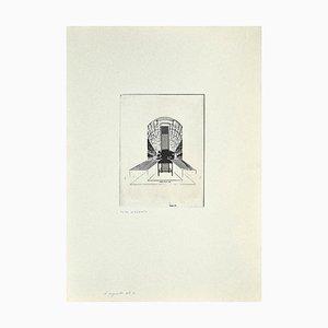 Danilo Bergamo, The Chair, Radierung auf Karton, 1975
