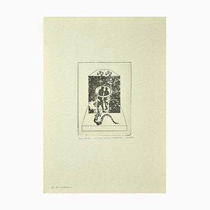 Danilo Bergamo, Adam und Eva, Radierung auf Karton, 1975