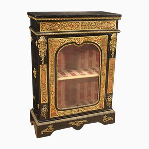French Sideboard in Inlaid Wood in Boulle Style