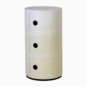 Italian White Plastic Chest of Drawers by Anna Castelli Ferrieri for Kartell, 1977