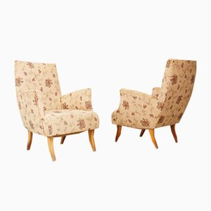 Armchairs Attributed to Melchiorre Bega, 1950s, Set of 2