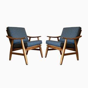 Nordische Armlehnstühle, 1960er, 2er Set