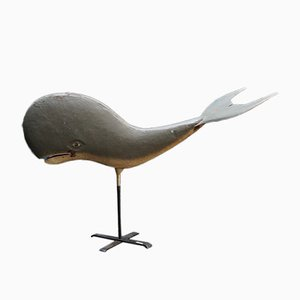 Baleine en métal vintage