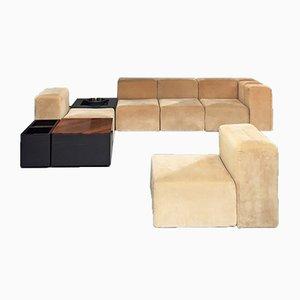 Modulares italienisches Sistema 61 Sofa in Beige von Giancarlo Piretti für Anonima Castelli, 1970er, 7er Set